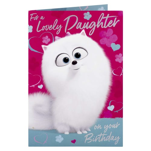 Secret Life of Pets Daughter Birthday Card