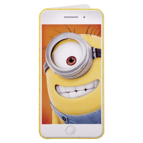 Minion Selfie Greetings Card