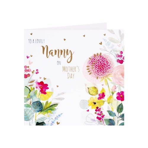 Bright Flowers Nanny Mother's Day Card