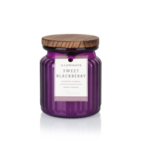 7oz Sweet Blackberry Illuminate Small Jar Candle